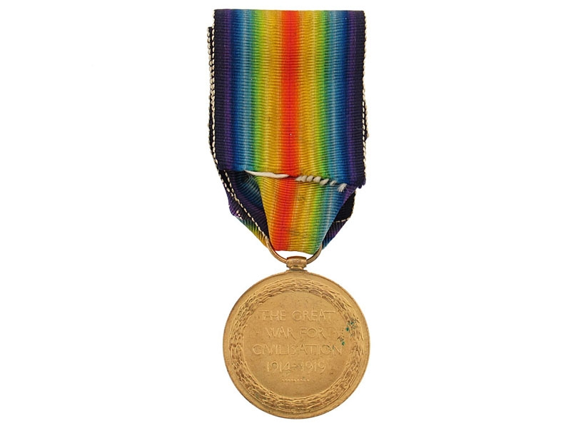 WWI Victory Medal -  43rd Infantry Battalion, KIA
