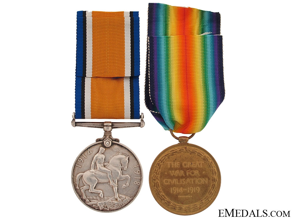 Great War Pair to the 3rd Canadian Infantry Battalion