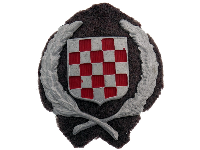 Early Croatian Army Officer's Cap Badge,