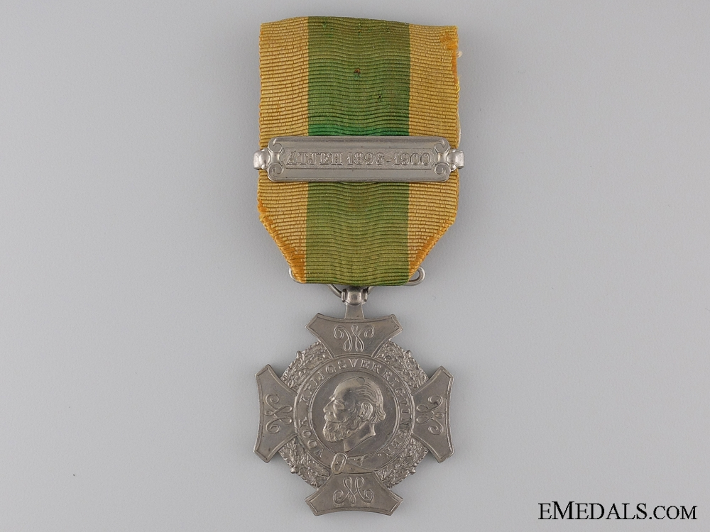 Dutch Expedition Campaign Cross; ATJEH 1896-1900 Bar