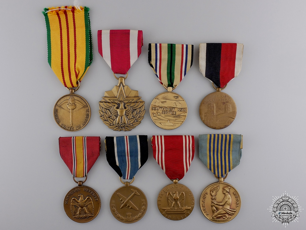 Eight American Campaign Medals