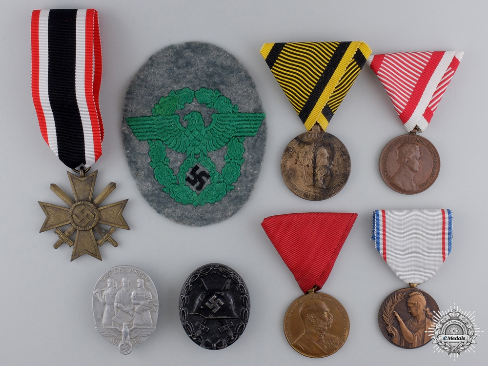 Eight European Badges, Medals, and Awards