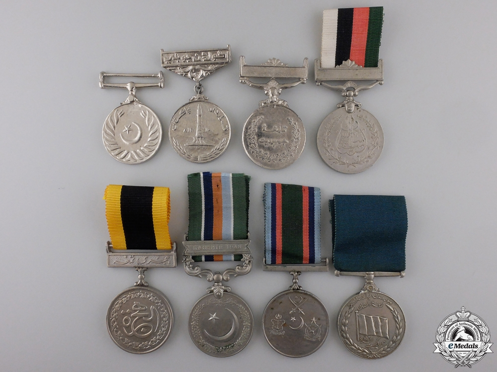 Eight Pakistani Medals and Awards