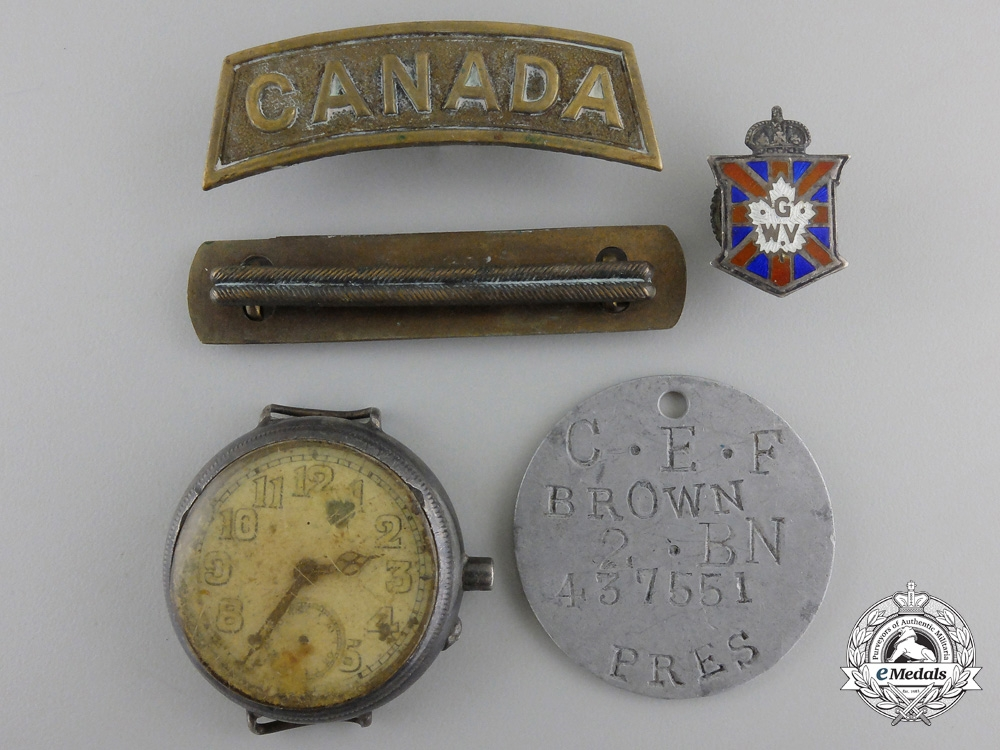 A First War Group to the 2nd Canadian Infantry Battalion; Wounded on Vimy