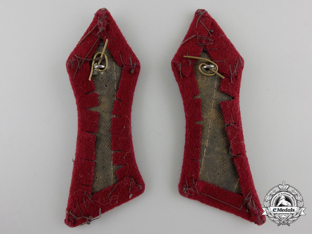 A Second War Pair of Croatian Collar Tabs