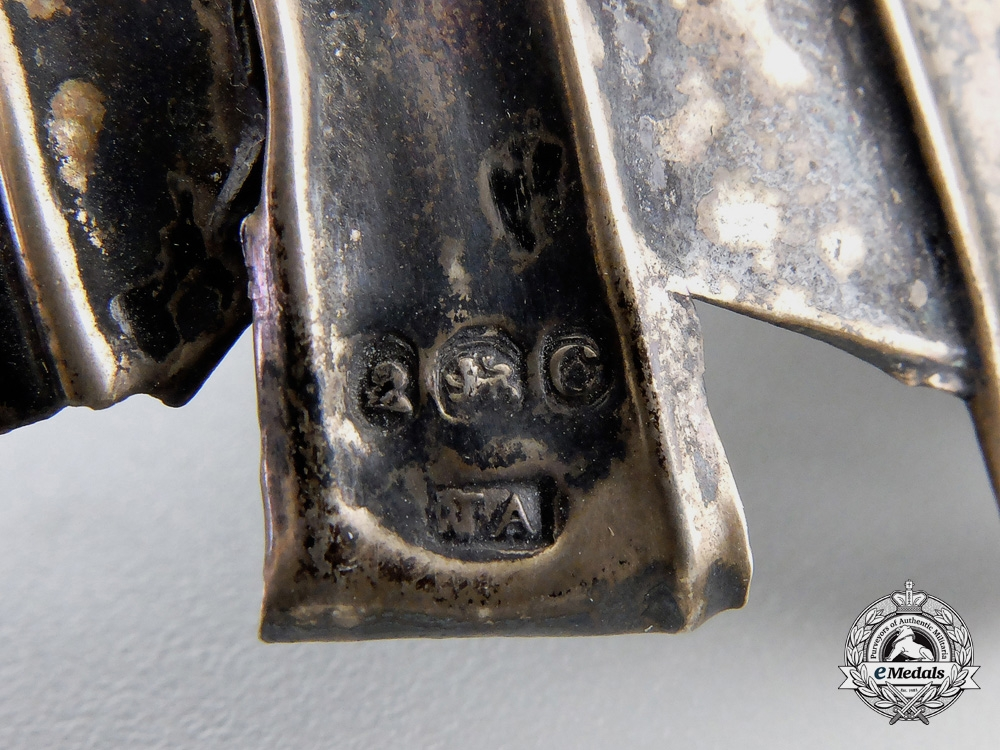 A Most Rare1818Officer's Heavy Cavalry Helmet Plate