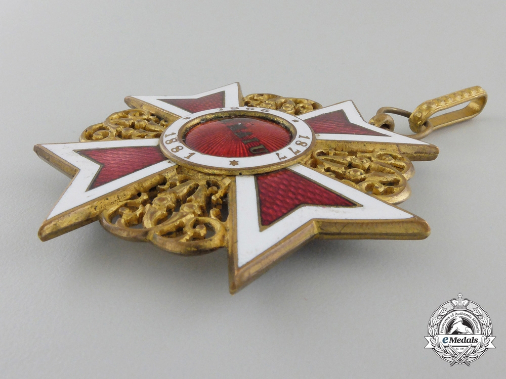 A Romanian Order of the Crown; Commander (1881-1932)