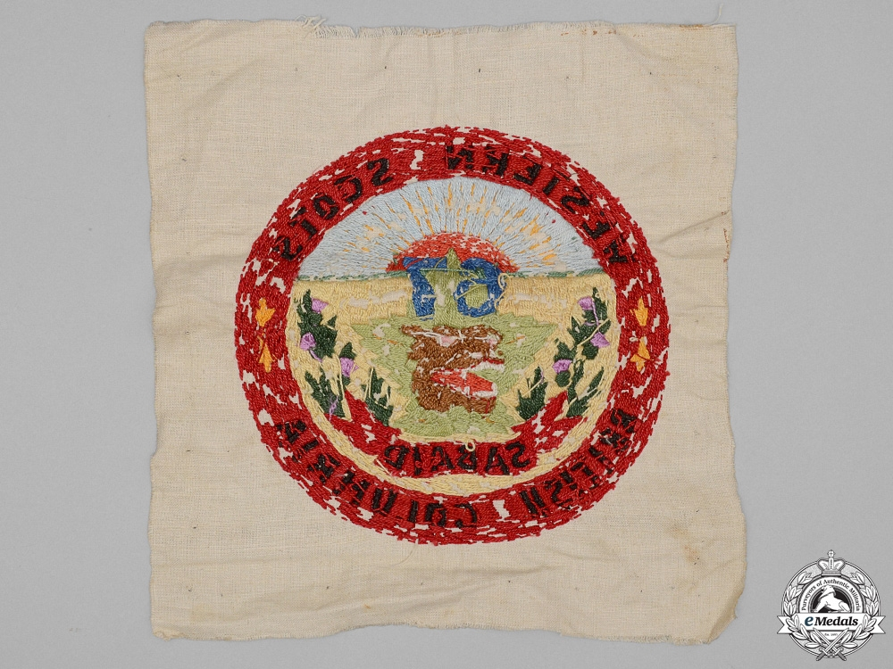 """A First War 67th Infantry Battalion """"Western Scots"""" Tapestry"""