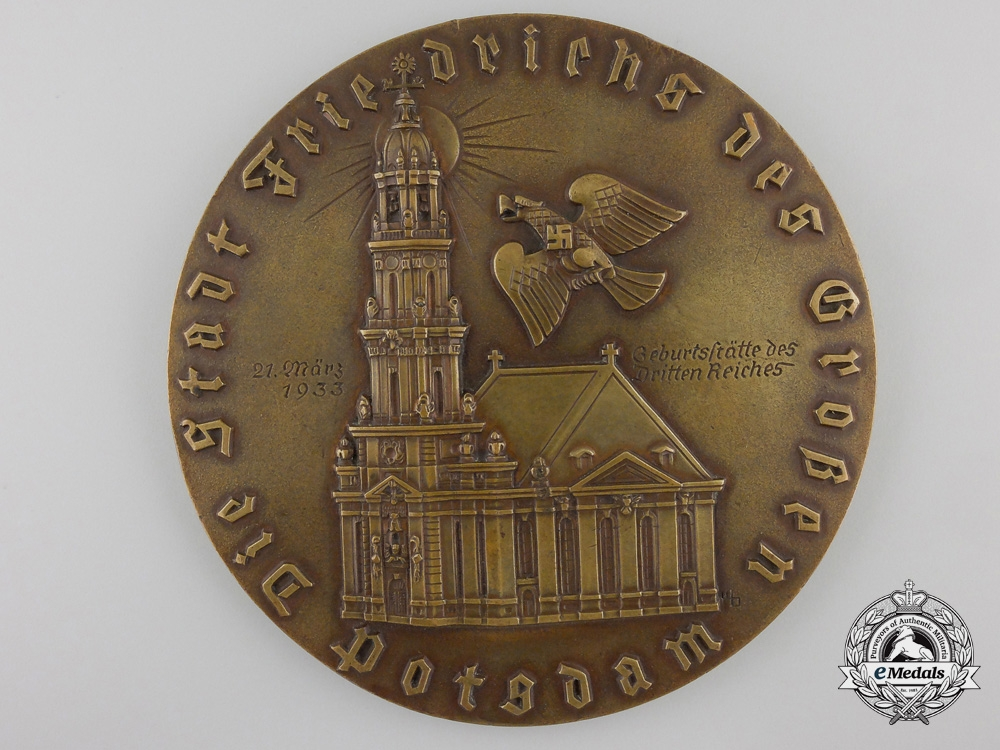 The Large 1933 Royal City of Potsdam Honour Medal