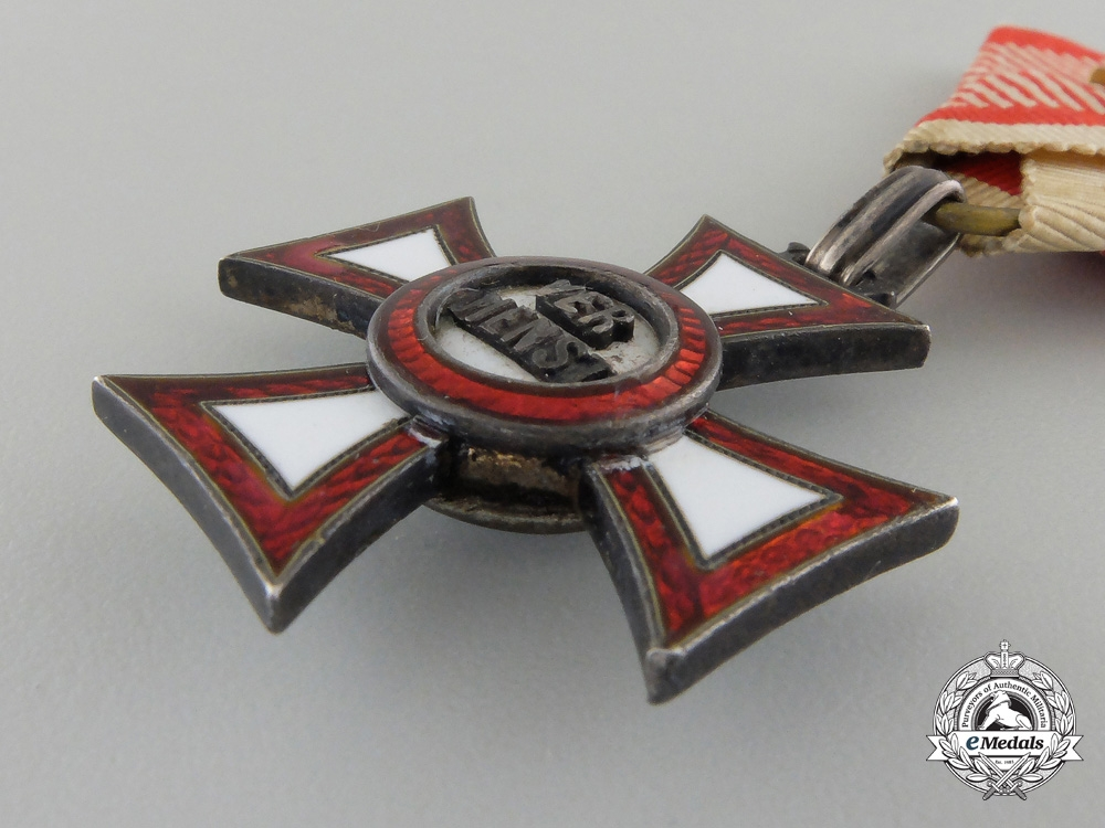 An Austrian Imperial Military Merit Cross (MVK)
