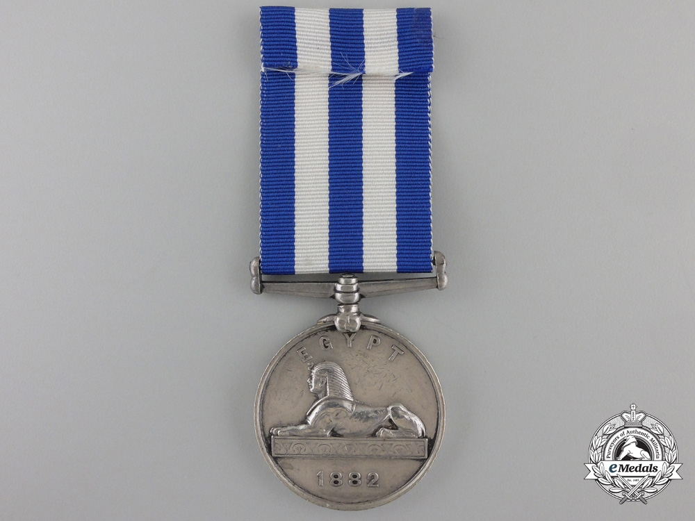 An 188 Egypt Medal to H.M.S. Agincourt