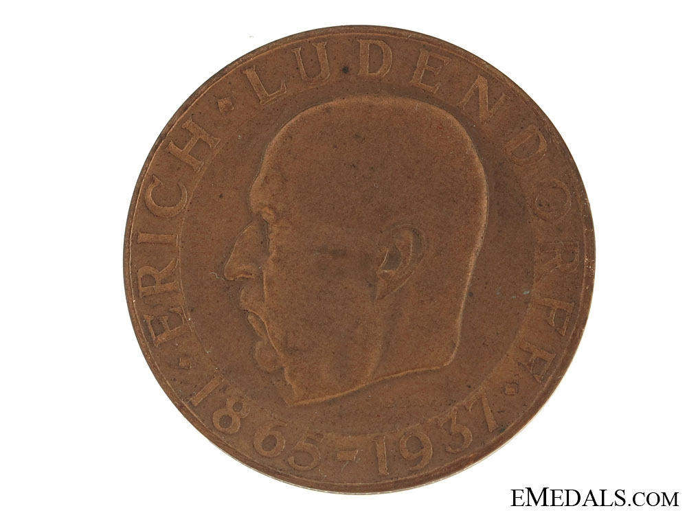 Erich Ludendorff Comm. Medal 1865-1937