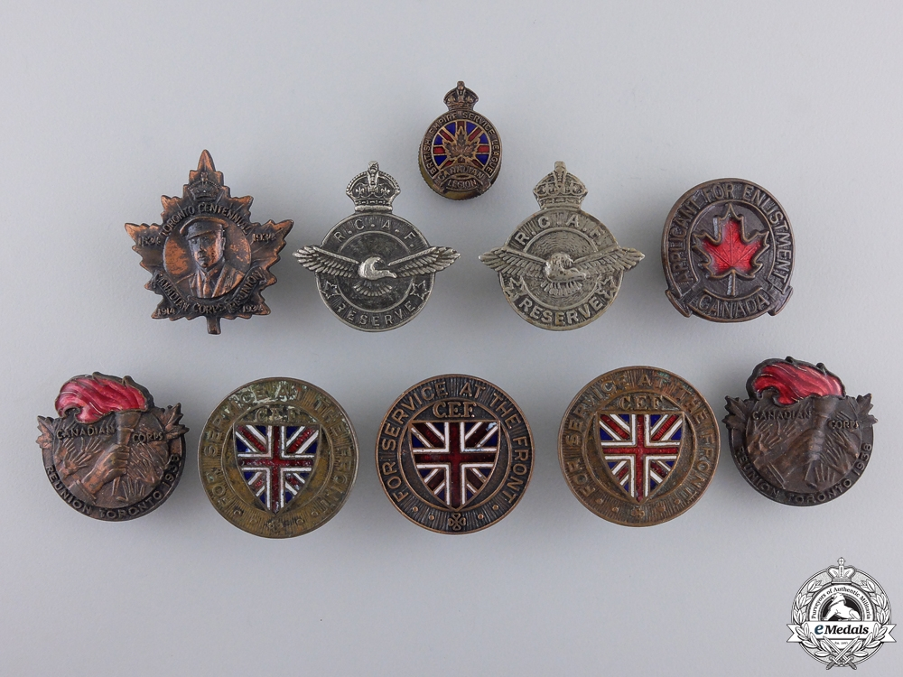 First & Second War Canadian Badges and Pins