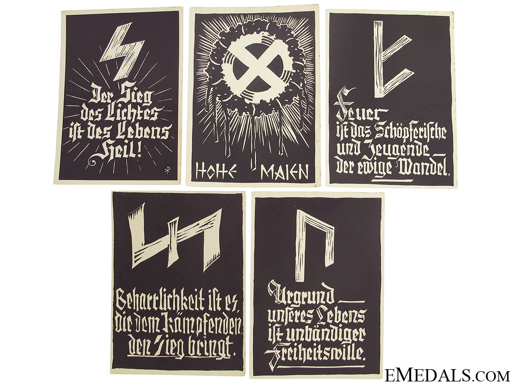 Five WWII German Postcards
