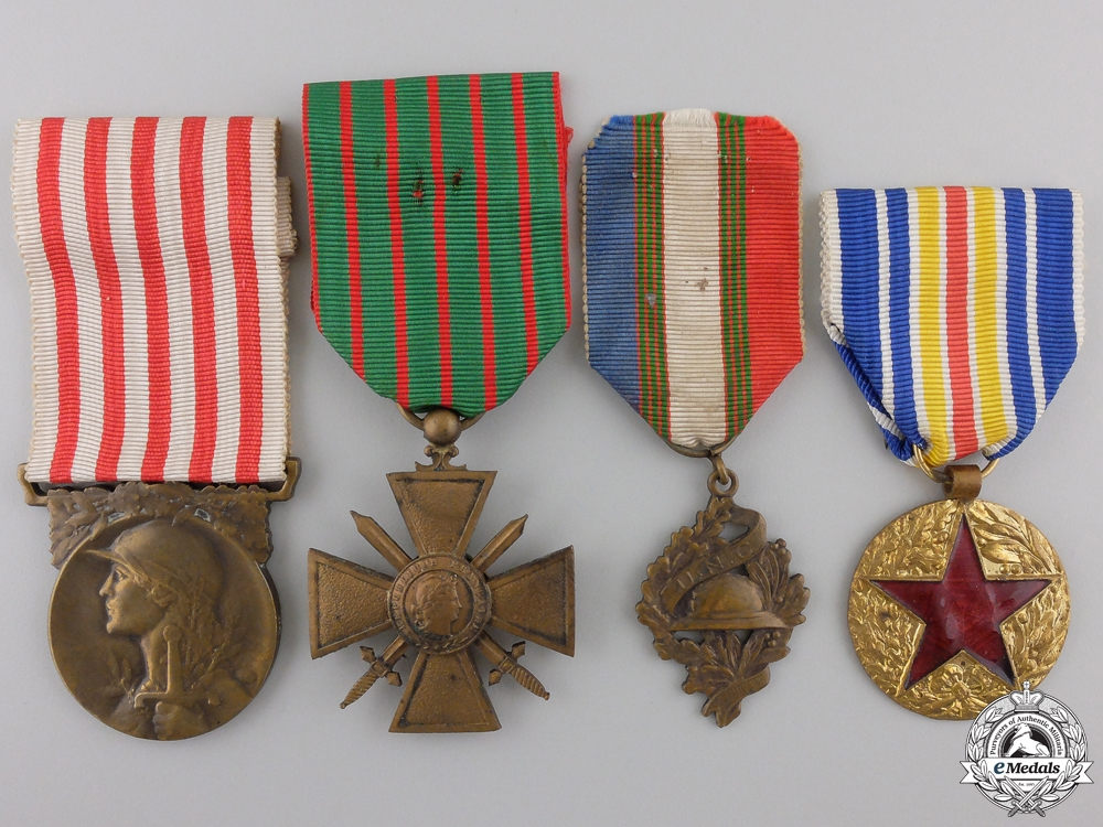 Four First War French Medals and Awards