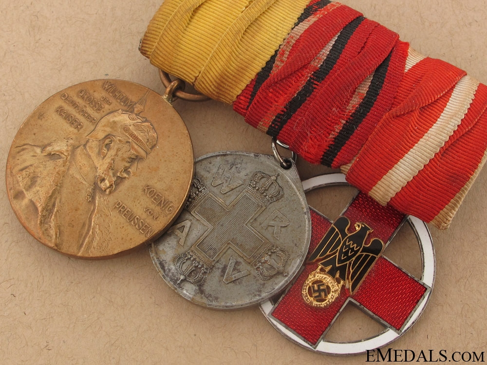 Imperial & WWII Medal Bar with Three Awards