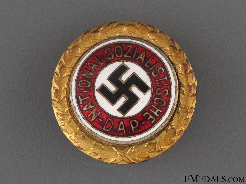 Golden Party Badge - Small Version