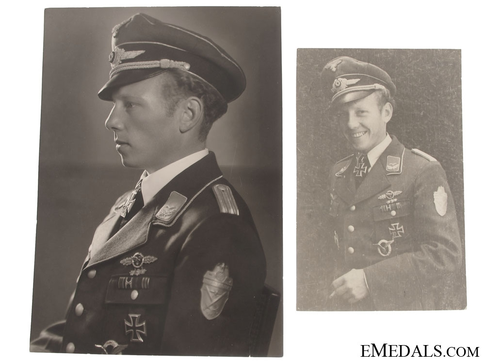 Knight's Cross Preliminary Documents & Photos to a Luftwaffe Officer