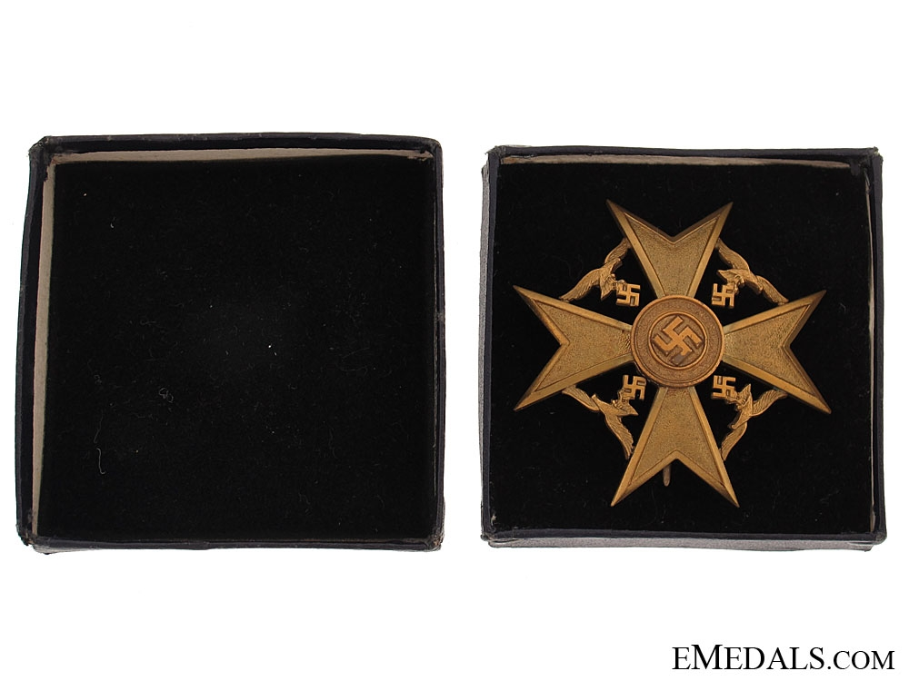 Spanish Cross in Bronze - in Box of Issue
