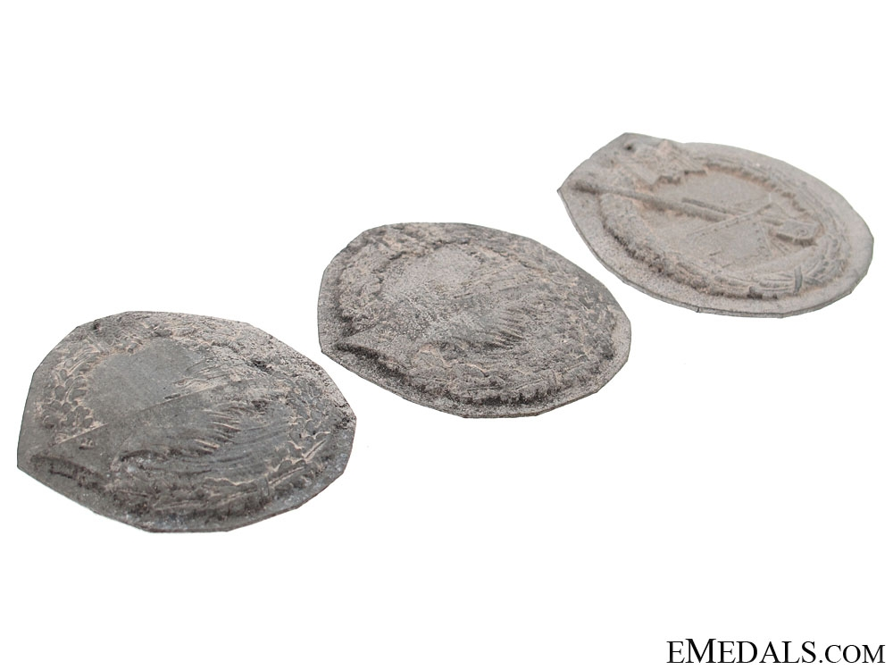 Three Navy Badges Recovered from Zimmermann Factory