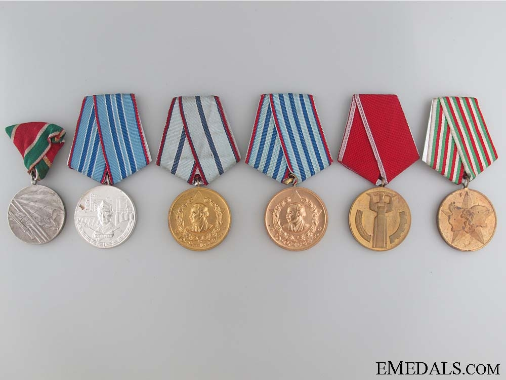 Group Six Bulgarian Medals