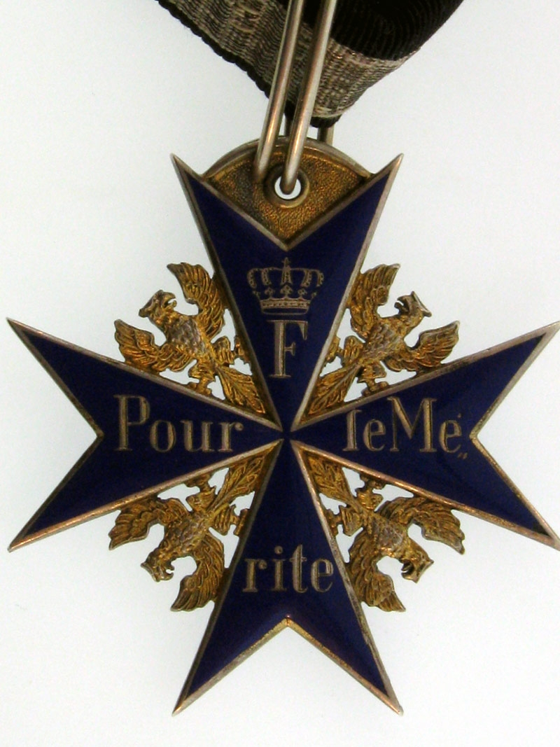 Prussia, Order Pour-le-Merite to Major Wulf