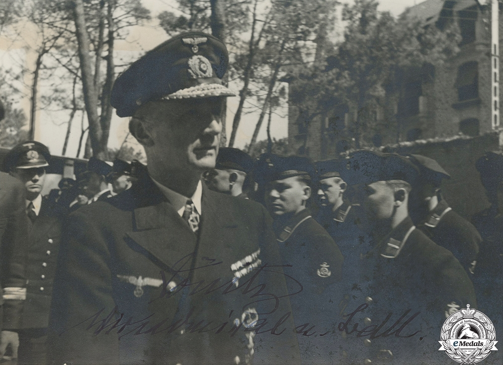 A Large Signed Photograph of Großadmiral Karl Dönitz