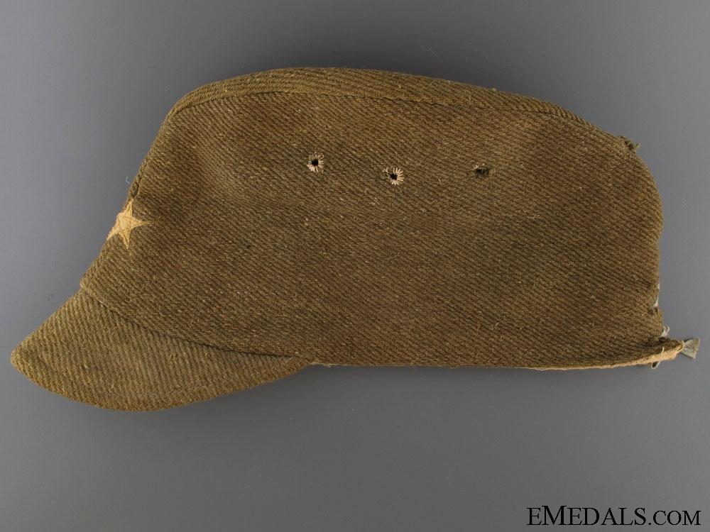 WWII Enlisted Man's/ NCO`s Field Side Cap