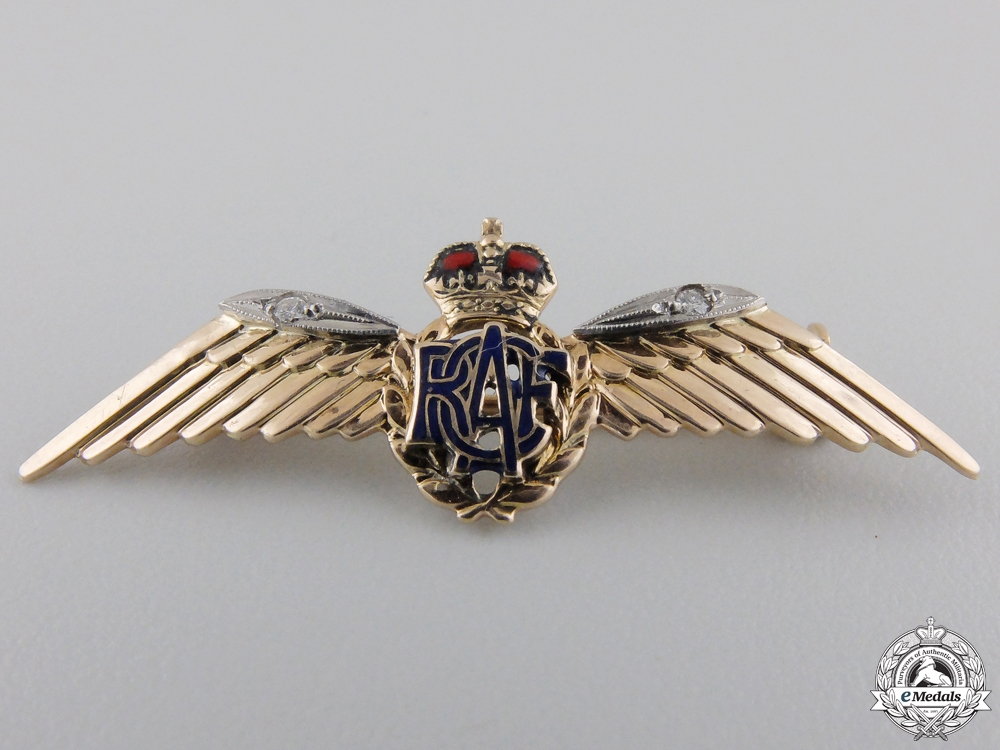 A Royal Canadian Air Force (RCAF) Pin in Gold and Diamonds