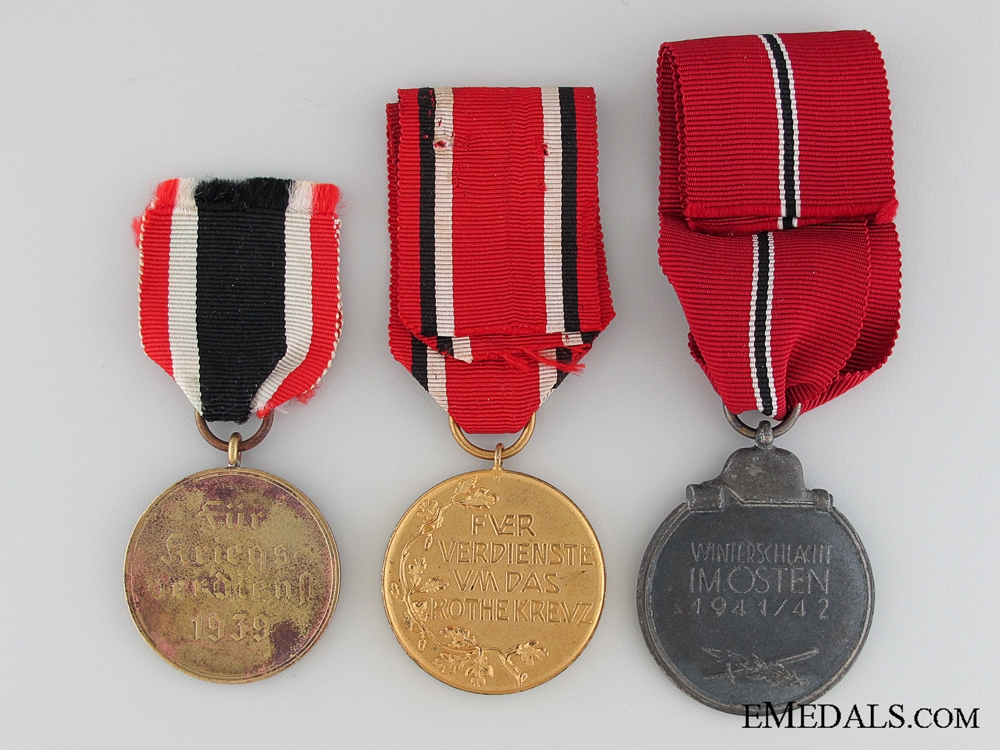 Lot of Three Medals