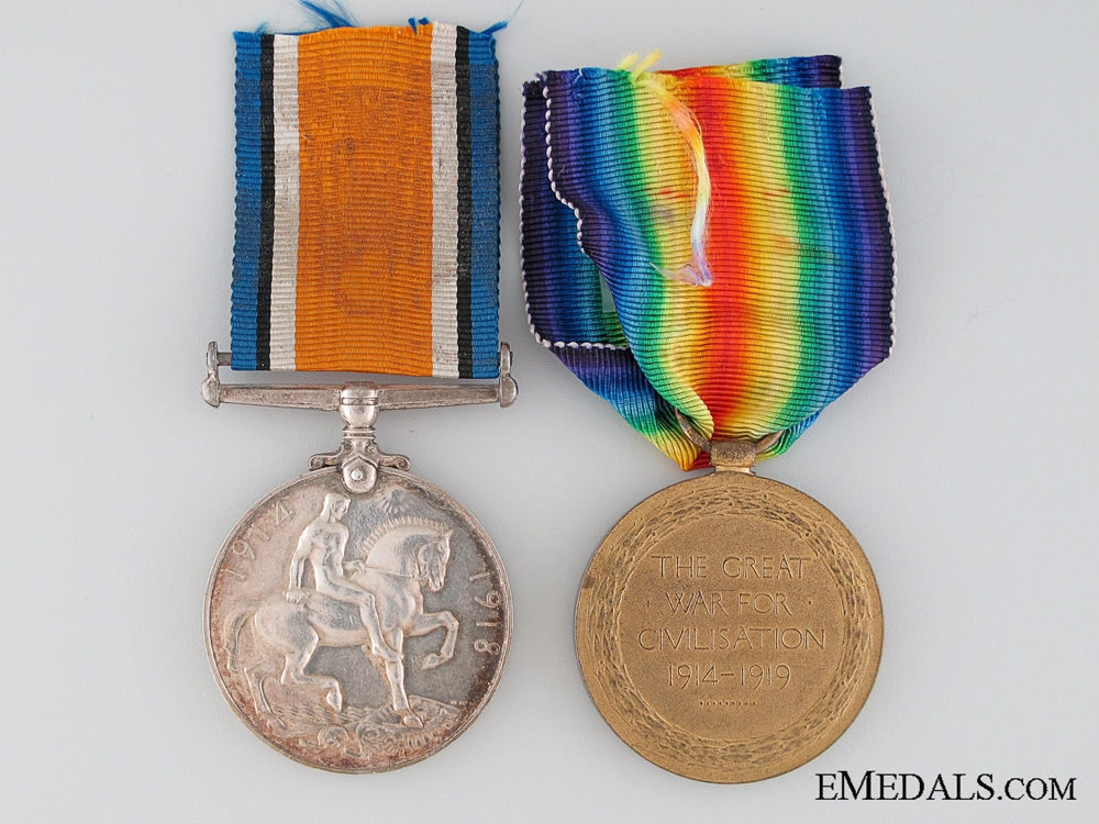 WWI Canadian Pair to the Army Service Corps