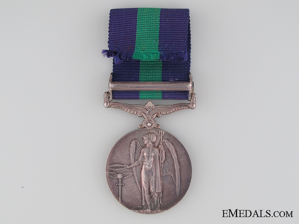 General Service Medal 1918-1962, Private W.W.G. Easthope, Duke of Cornwall's Light Infantry