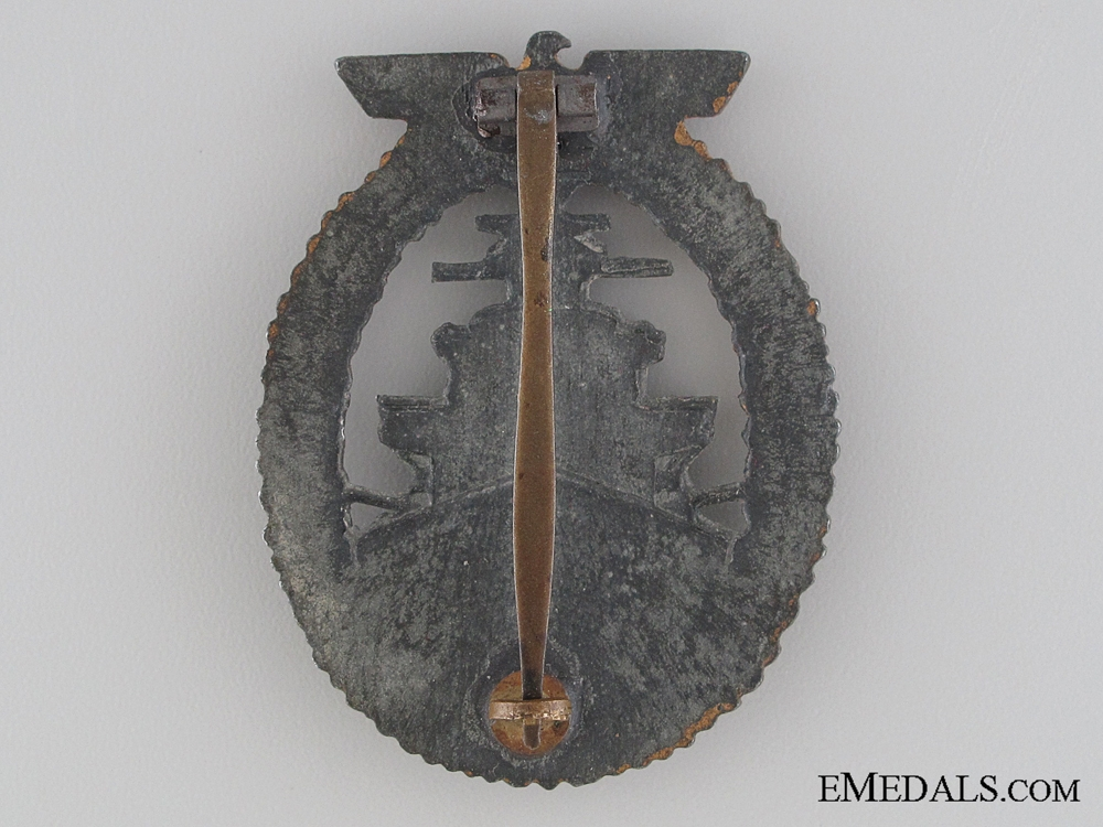 A Kriegsmarine High Seas Fleet Badge by Steinhauer und Lück