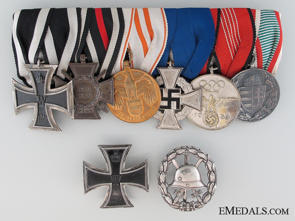 A Prussian Ministry of State Medal Bar to Amtsrat Heinrich Drews