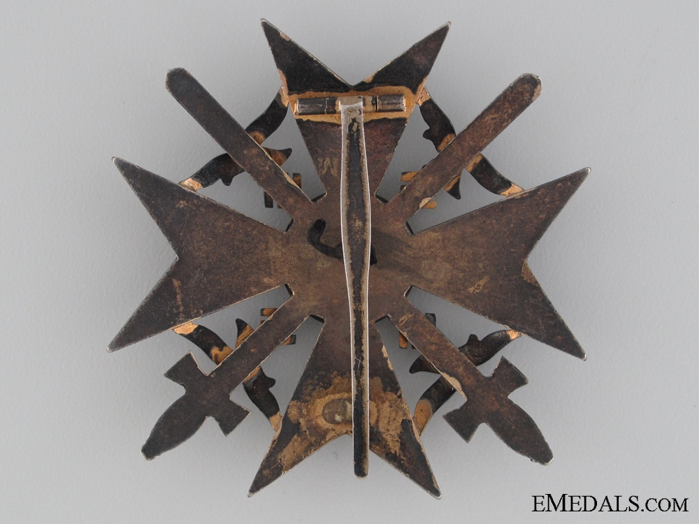 A Spanish Cross in Bronze with Swords