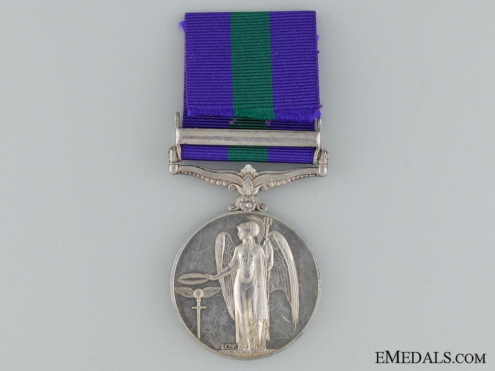 1918-1962 General Service Medal to PTE. T.Manyele