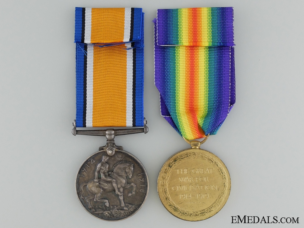 A First War Canadian Pair to the Royal Canadian Regiment