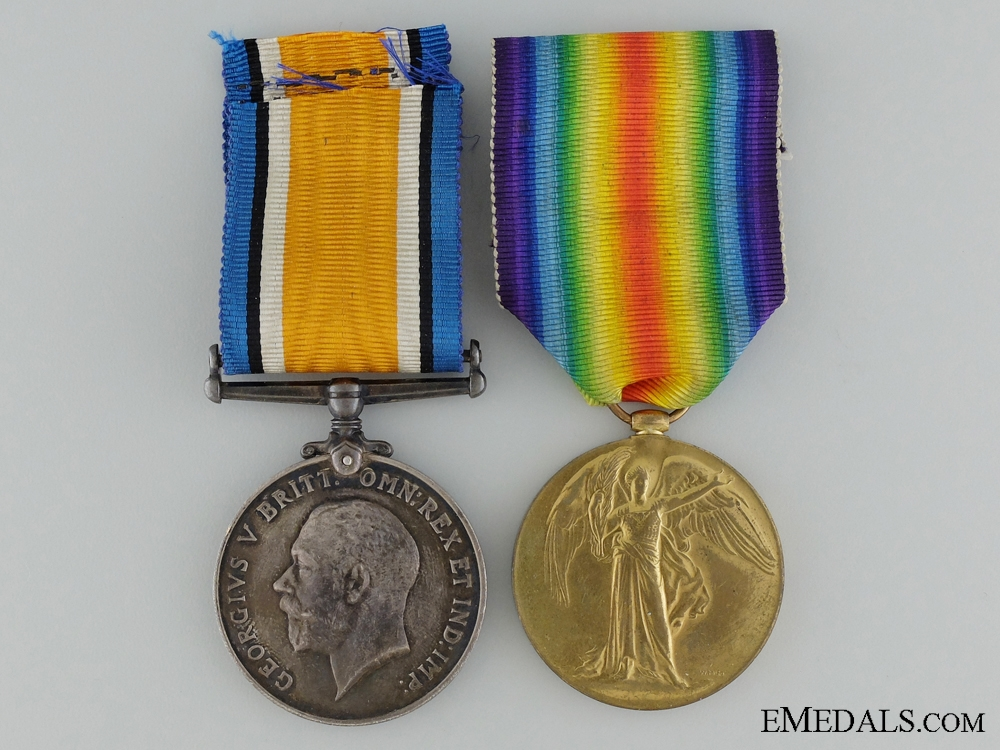 A First War Canadian Medal Pair to the 31st Infantry Battalion