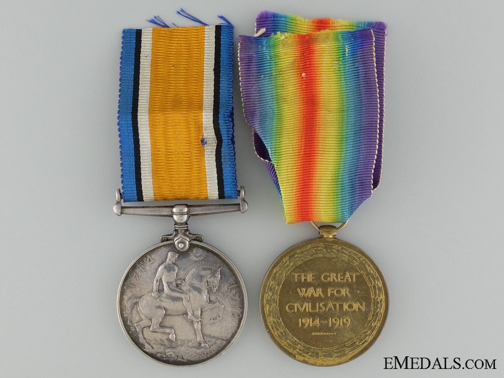 A First War Pair to the 4th Infantry Battalion; Indian Born