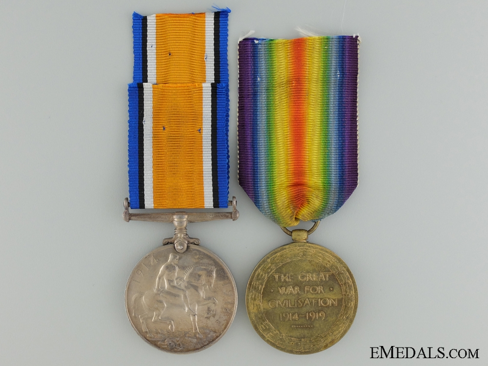 A First War Medal Pair to the 25th Canadian Infantry CEF