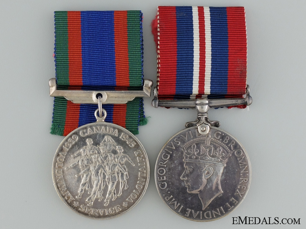 A Second War Medal Pair to the Royal Canadian Air Force