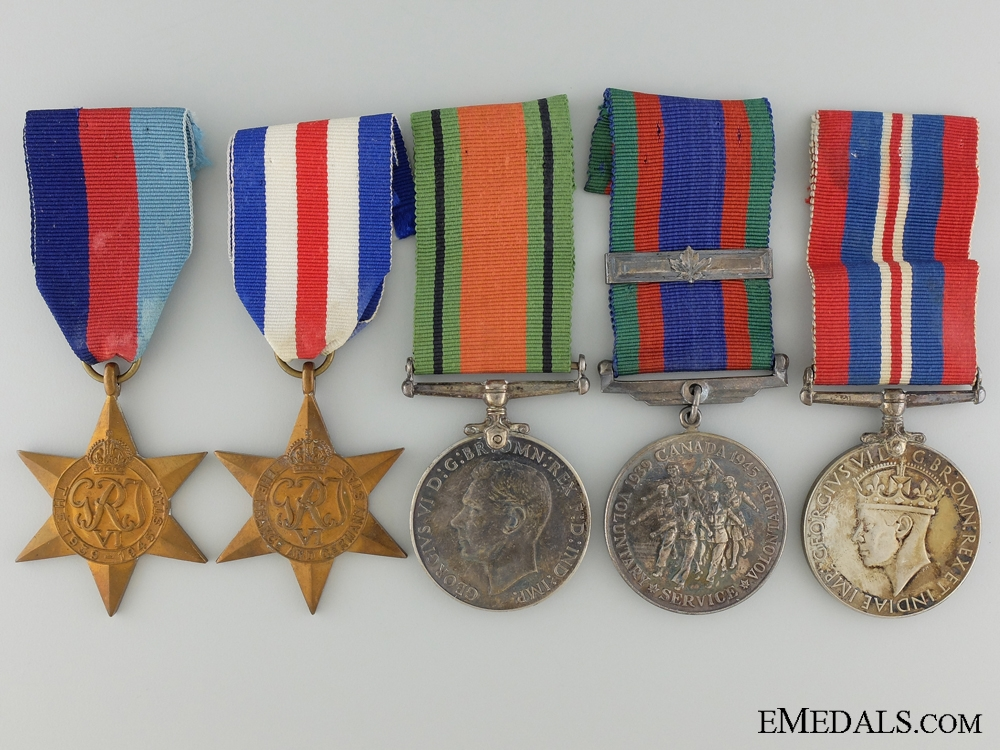 A Second War Canadian Medal Group to Private Charles Hamilton