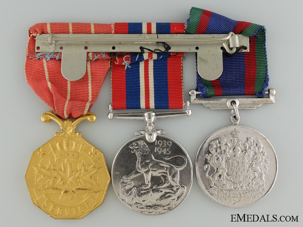 A WWII Canadian Forces Decoration Group to Cpl. Barnes