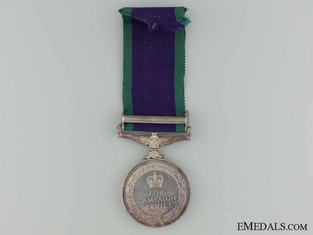 A 1918-1962 General Service Medal to Pte J. Quinn