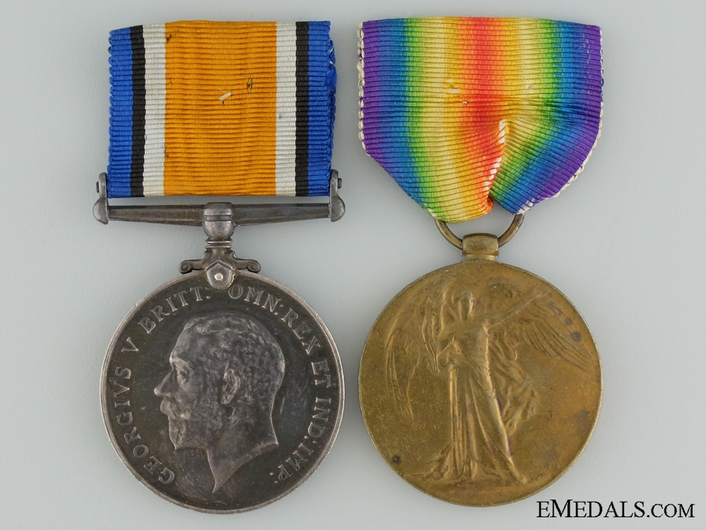 A First War Medal Pair to the 50th Canadian Infantry CEF