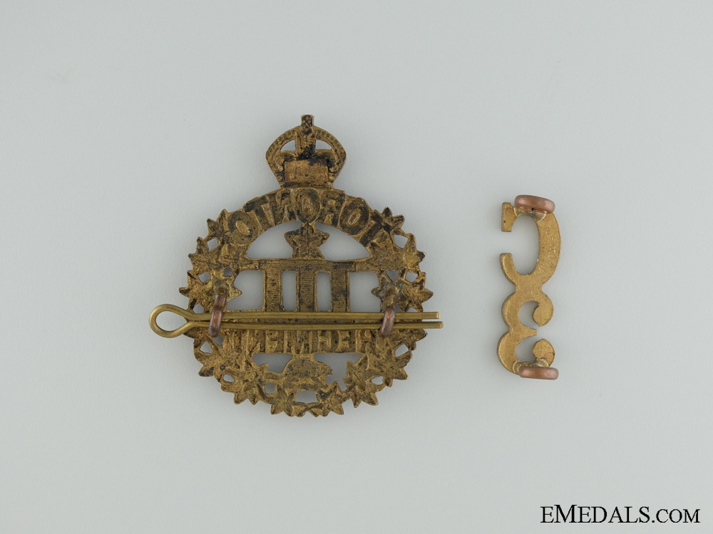WWI 3rd Infantry Battalion Cap Badge and Collar Insignia
