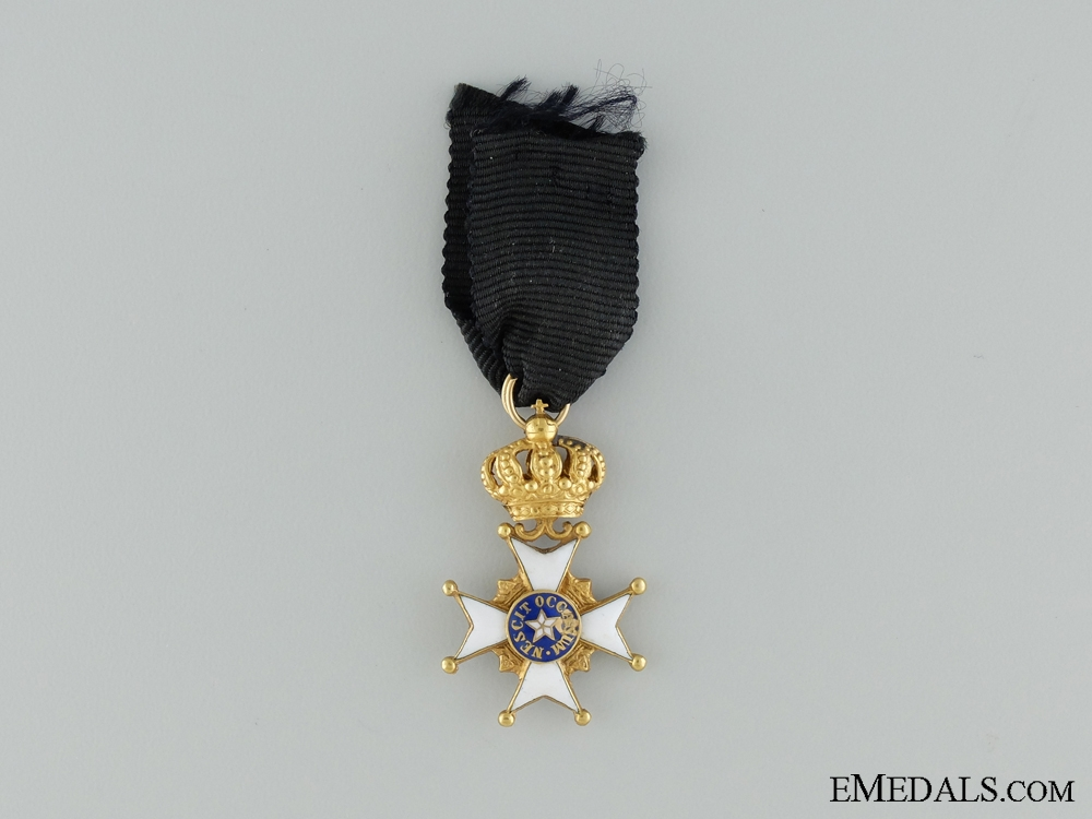 A Swedish Order of the North Star Miniature in Gold