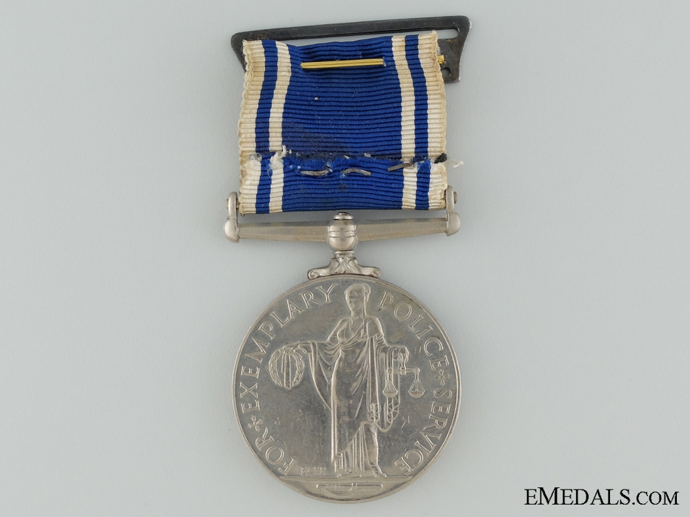 Police long Service and Good Conduct Medal to Constable Newton