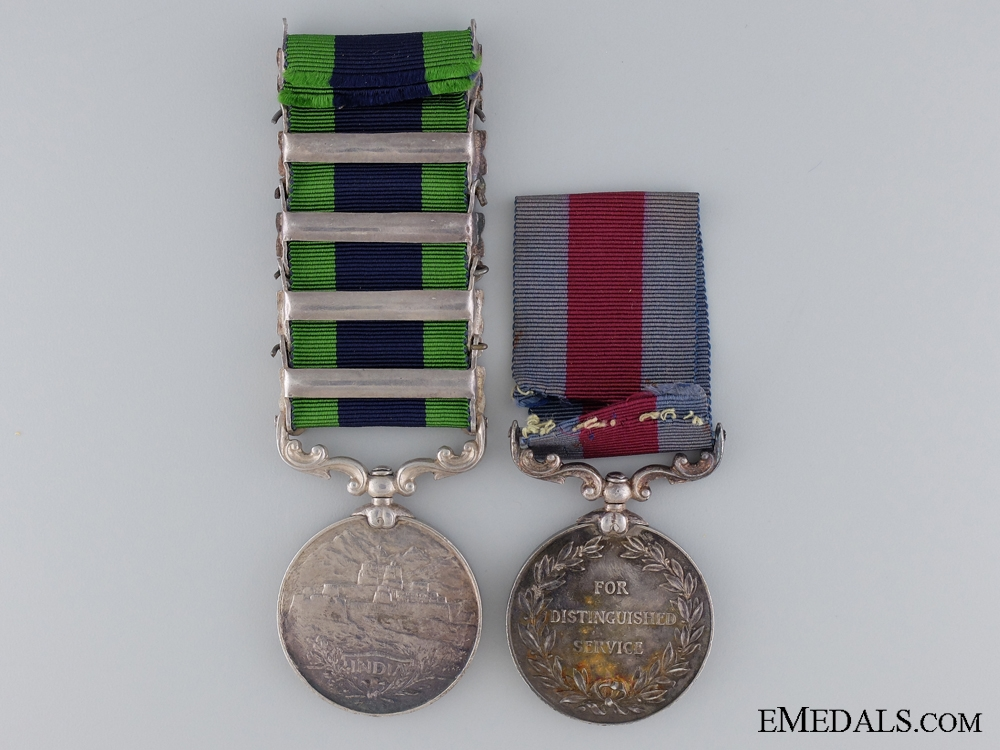 A Indian Distinguished Service Medal Pair to the 109th Infantry