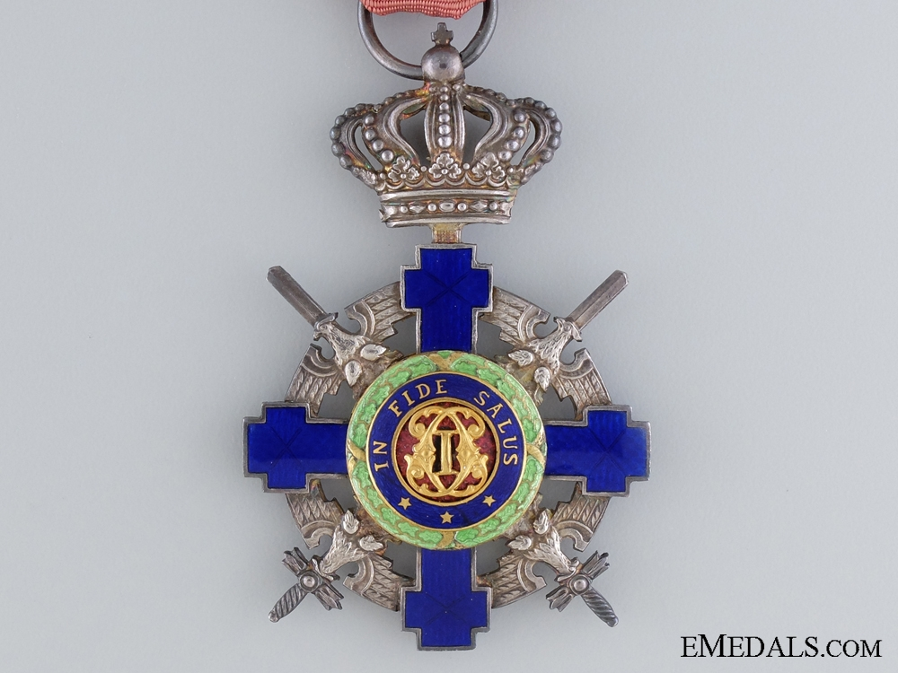 Order of the Star of Romania with Swords; Knight Cross Type II